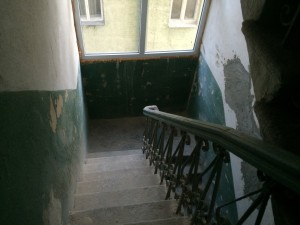 """Черная"" лестница стала намного светлее..."