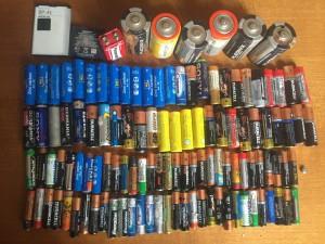 Так выглядят 122 батарейки б/у, уже не опасных для природы