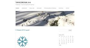 Новогодняя страница нашего сайта (2019)