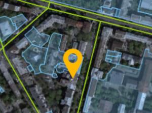 Текущий фрагмент кадастровой карты - с отметкой на нашем доме